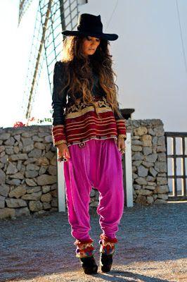 Pantalones Bombachos Hippies Boho Chic Fashion Boho Fashion Style