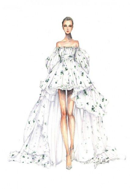 43 Ideas For Fashion Model Sketch Dresses Art Fashion With