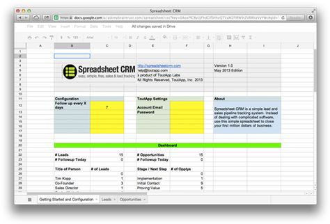 SalesforceIQ for Small Business CRM  Productivity Apps for Sales - sales lead tracking spreadsheet