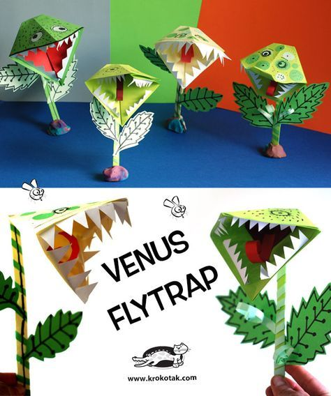 Paper Venus Flytrap Fun Arts And Crafts Arts And Crafts For Kids Crafts For Kids