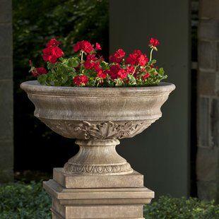 Fleur De Lis Living Renfroe Fiberstone Planter Wayfair In 2020 Urn Planters Garden Urns Planters