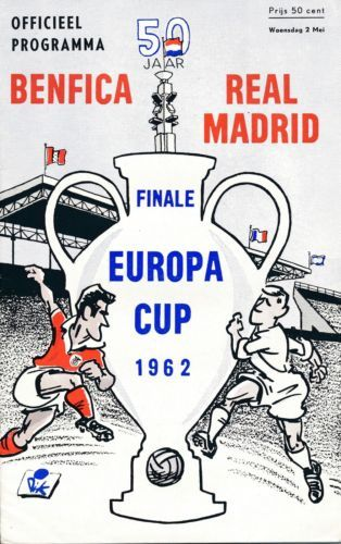 European Cup Final 1962 Real Madrid V Benfica Real Madrid Gifts For Football Fans European Cup