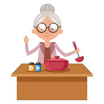 Granny Cooking Vector Ilustracion Sobre Fondo Blanco Ilustracion Personas Abuela Png Y Vector Para Descargar Gratis Pngtree Plantillas De Logotipo Dibujos Divertidos Vector