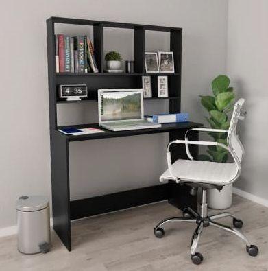 Bureau Noir Avec Compartiments En 2020 Bureau Gris Bureau Et Bureau Design