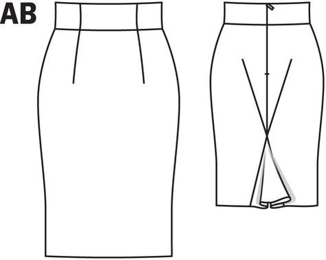 Women's skirt sewing pattern available for download. Available in various sizes and is produced by burda style magazine. Take on this ultra feminine business look. A high waisted pencil skirt slims your waist and flatters your bum for the ultimate bombshell silhouette. This pattern is from the Havana Nights collection.