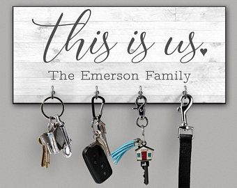 Home Sweet Home Personalized Key Ring Holder For Wall Key Hook Key Hanger Key Rack Key Organizer In 2020 Personalized Key Holder Key Hanger Key Hanger For Wall