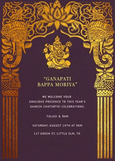 Card Preview Wedding Invitation Cards Ganpati Invitation