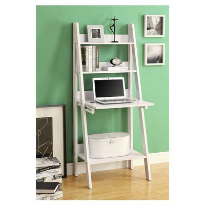 Desk Bookshelf Combo Wayfair 110 Drop Down Desk Bookcase Desk Leaning Desk