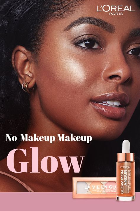 Meet The New Highlighting Palette Drops For A Lit From Within Glow So Natural So Luminous They Ll Think Yo Loreal Makeup Summer Glow Makeup Glowing Makeup