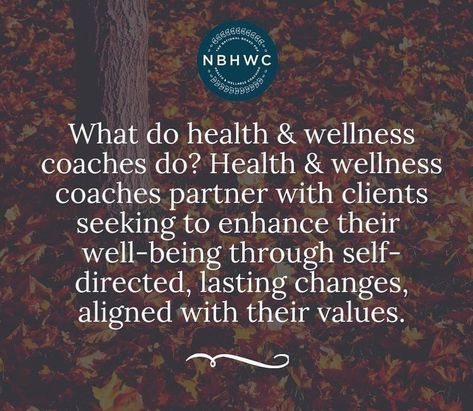 What Health and Wellness Coaches Do