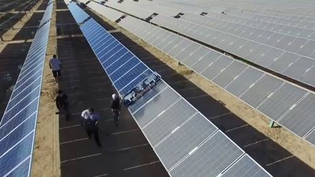 The Way These Solar Panels Get Cleaned Solar Panels Solar Power Energy Solar
