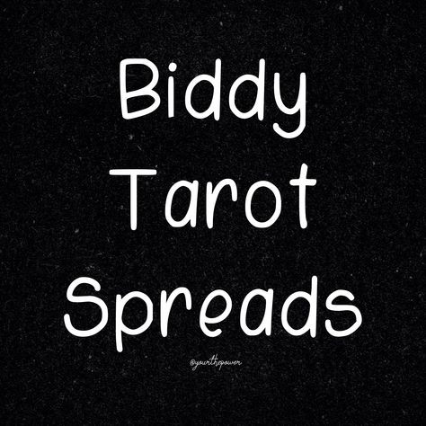 Hit this image for a collection filled with Biddy Tarot Spreads #biddytarot #tarotspreads #tarot