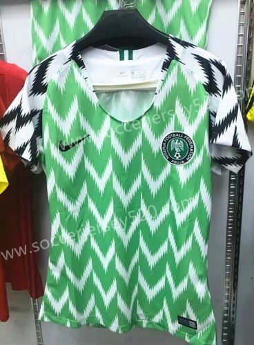 2018 World Cup Nigeria Home Green And White Female Thailand Soccer Jersey Aaa Soccer Jersey Womens Soccer Soccer