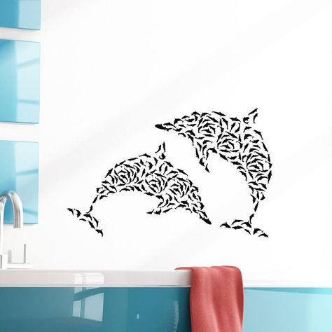 dolphins wall stickers bathroom wall tile sticker