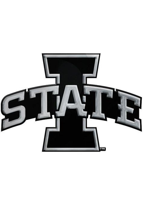 Iowa State Cyclones Chrome Car Emblem Black Black Iowa State