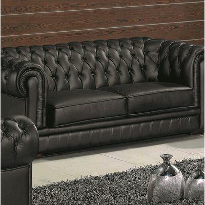 Orren Ellis Botkin Leather Chesterfield Sofa In 2020 Leather Chesterfield Sofa Upholstery Chesterfield Sofa