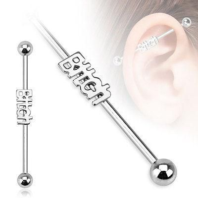 Clear Sparkle Balls Barbell Industrial Scaffold Piercing 14G Rosegold IP 1.6mm
