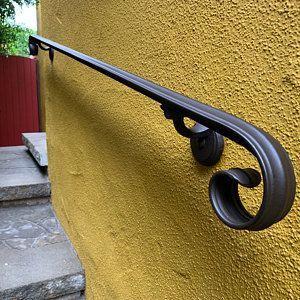 7 Ft Wrought Iron Hand Rail Wall Rail Stair Step Railing Wall