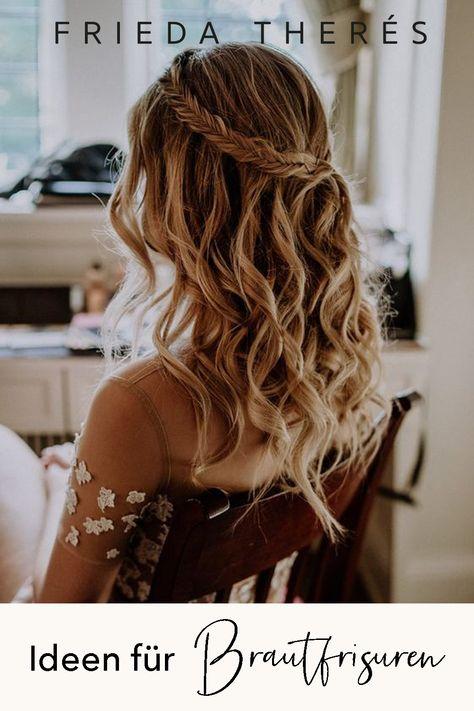 Brautfrisuren In 2020 Frisur Offen Geflochten Hochzeitsfrisuren Lange Haare Flechtfrisuren Hochzeit