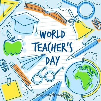 Download Lovely Teachers Day Composition With Flat Design For Free In 2020 Teachers Day Happy Teachers Day World Teacher Day