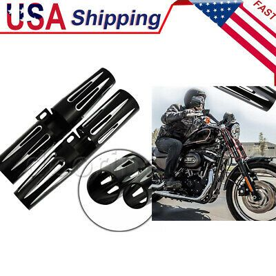 Advertisement Ebay Motorcycle 39mm Narrow Front Fork Shrouds Cover Boot For Harley Xl883 Xl1200 Motorcycle Parts And Accessories Harley