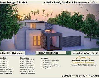 Affordable House Plans Australia Quality By Australianhouseplans Affordable House Plans House Plans Australia Skillion Roof