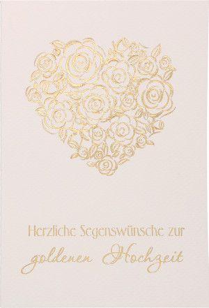 Glückwunschkarte Herzliche Segenswünsche Zur Goldenen