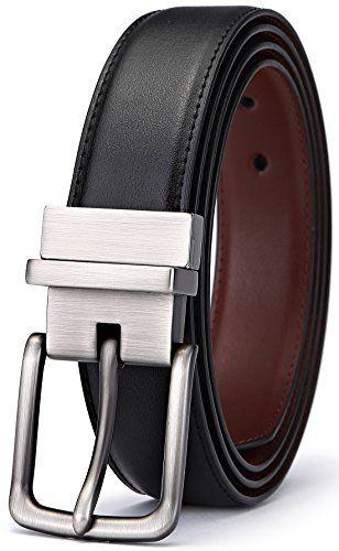 Men's Belt, Bulliant Genuine Leather Reversible Belt for Men