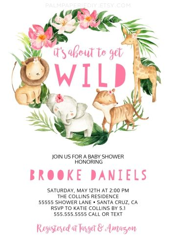 Baby Shower Invite Baby Shower Invitation Printable DIY Suite Instant Download Text Editable Forest Animals