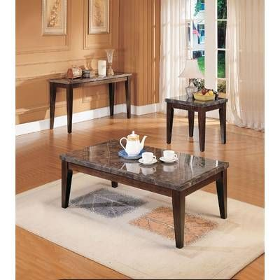 Troy 4 Piece Coffee Table Set With Images Black Marble Coffee Table