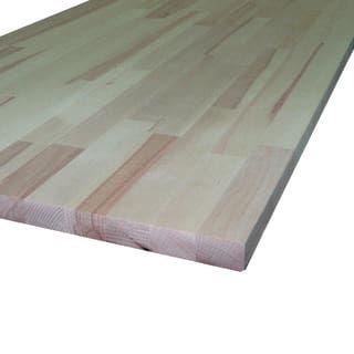 Piano cucina legno grezzo Rovere 3.8 x 60 x 245 cm ...