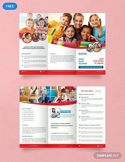 Free Elementary School Tri Fold Brochure School Brochure Free