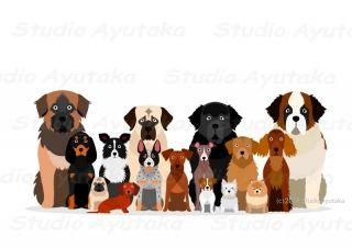 犬たち Dogs 犬の品種 キュートなスケッチ 犬のスケッチ