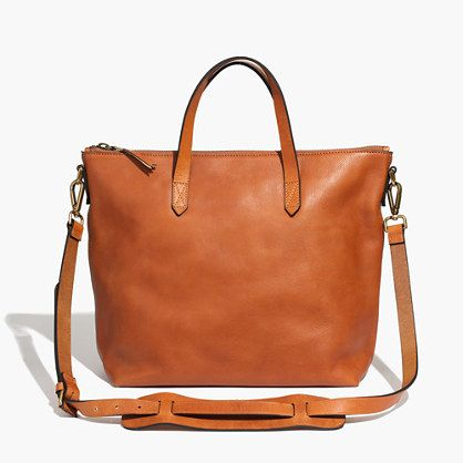 You asked for it: We remade our signature ruggedly cool carryall in a zip-top version. Not too big, not too small, it's designed to sling over your shoulder using the removable crossbody strap (aka a sized-down take on our regular tote). Figure in the secure top zip and it's the ideal bag for your daily commute. Please note: As leather is a natural material, each bag varies slightly in texture and color. We love the way each tote wears in differently, taking on a special character all its ...