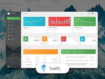 Vuetify Material Dashboard by Creative Tim   Pinterest
