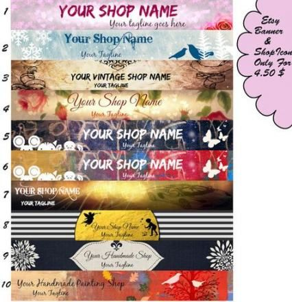 29 Best Ideas For Gifts Shop Banner Gifts Etsy Shop Banner Etsy Banner Set Shop Banner