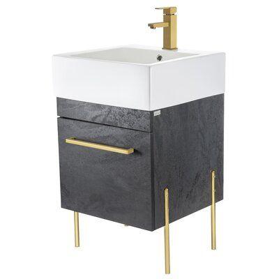 Union Rustic Christin 20 Single Bathroom Vanity Single Bathroom Vanity Bathroom Vanity Base Storage Spaces