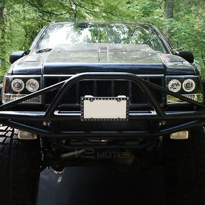 1993 1996 Jeep Grand Cherokee Halo Projector Headlights Black Pair Jeep Zj Jeep Grand Cherokee Jeep Grand