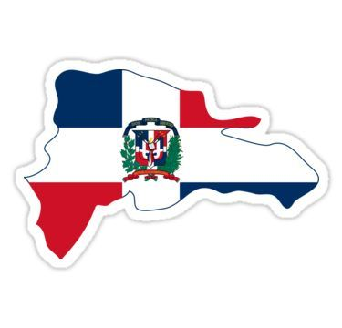 Flag Map Of The Dominican Republic Sticker Funny Laptop Stickers Dominican Republic Aesthetic Stickers
