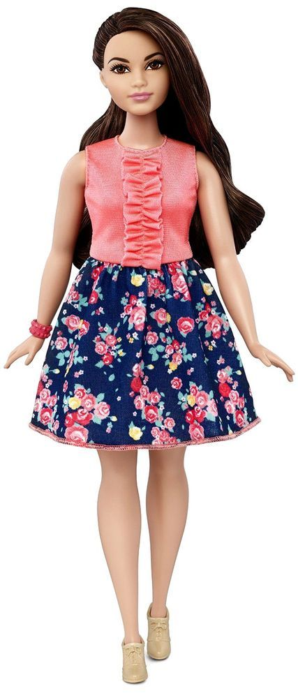 Barbie Fashionista Clothing Pink Flared Skirt Red Roses NIB