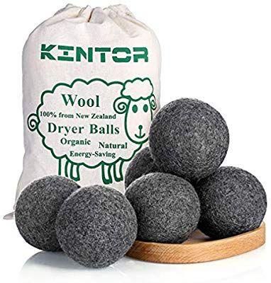 Amazon Com Wool Dryer Balls Dark Grey 6 Pack Xl 100 Organic