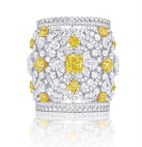 Mesmerising cuff in white gold with white and yellow diamonds from GRAFF. Description from pinterest.com. I searched for this on bing.com/images