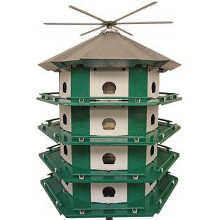Erva Mini Castle Safety 21 In X 29 In X 29 In Purple Martin House Wayfair Purple Martin House Martin Bird House Bird House