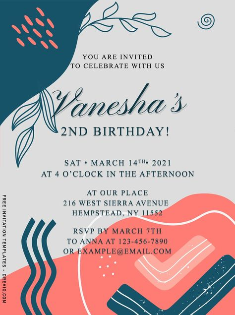9+ Creative Memphis Style Birthday Invitation Templates For Your Kids' Birthday Party