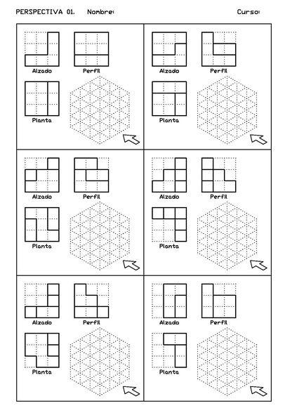 Archivo Vistas Der 01 Pdf Dibujo Perspectiva Ejercicios De Dibujo Tecnicas De Dibujo