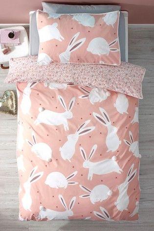 Buy Pom Pom Bunny Rabbit Duvet Cover And Pillowcase Set From The Next Uk Online Shop Pom Pom Bunnies Duvet Covers Bunny Room
