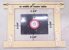 20 of 27router table insert leveling mechanism diy guide rail how to install your router in your router table keyboard keysfo Images