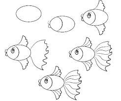 How To Draw A Baby Fish Step By Step In 2020 Easy Fish Drawing Fish Drawings Easy Cartoon Drawings