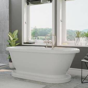 Windemere 70 X 34 Pedestal Soaking Bathtub Pedestal Tub Soaking Bathtubs Free Standing Bath Tub