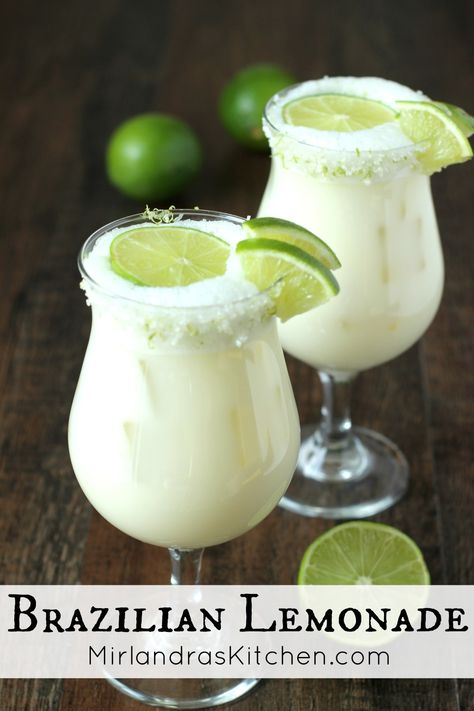 Brazilian Lemonade is a creamy, smooth refreshing lime drink native to Brazil. This version is just like the one Tucanos Brazilian Grill makes! The Effective Pictures We Offer You About holiday Drinks Lime Drinks, Refreshing Drinks, Fun Drinks, Healthy Drinks, Beverages, Healthy Food, Nutrition Drinks, Easy Cocktails, Healthy Recipes